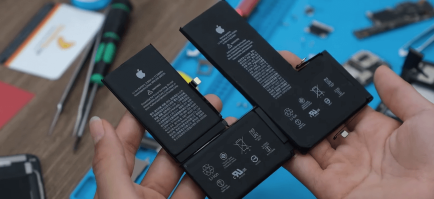 емкость аккумулятора IPhone