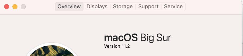 Как узнать версию MAC OS