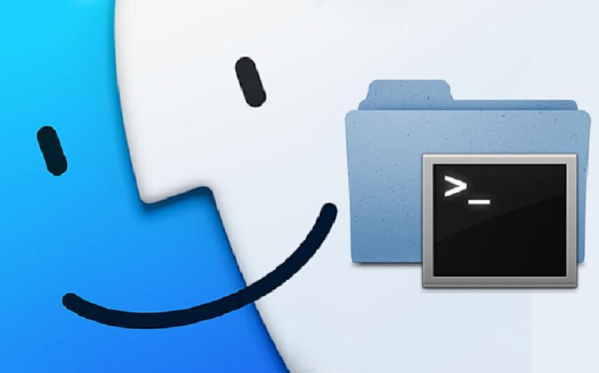 открыть терминал через Finder